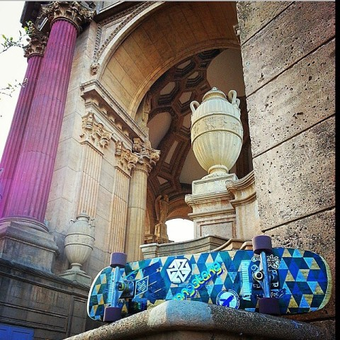 Adventurer @dukepearl skated from the Golden Gate Bridge to the Palace of Fine Arts in San Francisco and sent us this fine photo. Tag us how you #liveactivated and we will feature you too! #avalon7 #inspiracon #skateboarding #art www.avalon7.co
