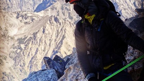 Adventurer @kziechmann stays warm by wearing our solid black Faceshield while climbing the Owen Spalding route on the Grand Teton. Light and super easy to carry in your pocket, our Faceshields are the ultimate adventure accessory!  Grab one at www.avalon7.co #avalon7 #liveactivated #climbing