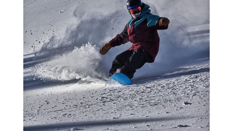 -5F and blower pow today for the @tetongravity Fall Line Camp at @jacksonhole that I've been coaching. Perfect #avalon7 #faceshield testing weather! Here 13 year old shredder Tag slashes the pow with a warm and happy face. #liveactivated #snowboarding #jhlife #jhdreaming #a7co www.avalon7.co