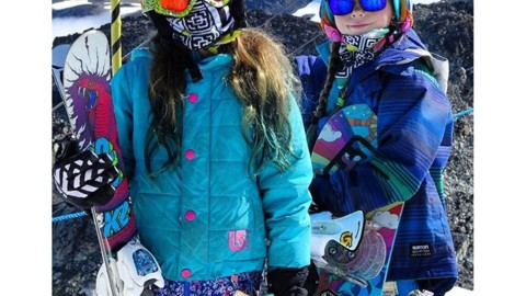 Kaia and Capri Achenbach ready to rip in the summer sun at @campofchampions. Our Mesh Shields were originally developed to protect your face from the scorching heat and sun up on the glacier, and they work perfectly! #avalon7 #liveactivated #snowboarding #campofchampions #getstoked www.avalon7.co