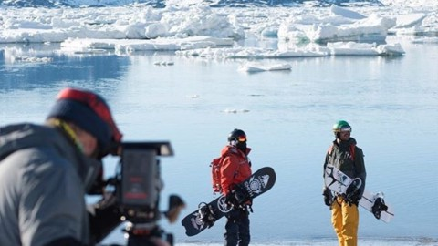 Adventure is better with friends. @robkingwill and @sethwescott take a minute to take in the view while filming for @warrenmillerent and @llbean in Greenland. The new movie premiers tonight! #inspiredstate #llbeanmoment