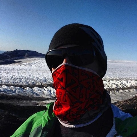 Renegade @natekush rocking his AV7 Tshield in Greenland as a defense against bugs and 60 knot winds. #avalon7 #liveactivated www.avalon7.co