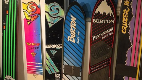 Days of future past. There's lots of history in the Elf's Den. How far we have come, how far will we go? The stoke remains the same. Tag someone you know who rode one of these boards! @suspended_animation you rule! #vintagesnowboards #snowboarding #avalon7 #artifactsofthefuture