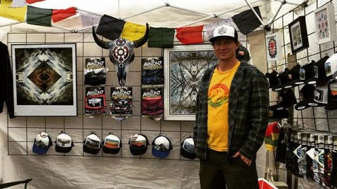Killer day here at the Takin' it to the Streets locals art fair in #jacksonhole! Thanks to everyone who stopped by and picked up some fresh Av7 hats, faceshields and art ! #stoked #avalon7 #liveactivated #hustlin Www.avalon7.co