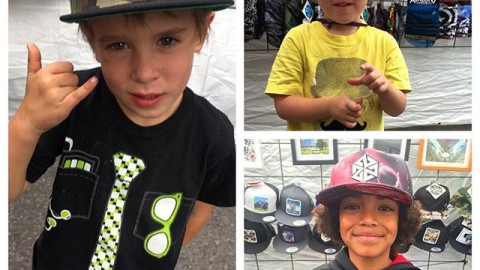 The future is bright! Next generation #AV7 adventurers at our art fair booth yesterday. #avalon7 #liveactivated Kids hats and more available at www.avalon7.co