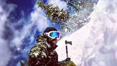 @mikebasich chopping up the pow at #area241 with one of our custom A7CO throwing tomahawks that he received for being elected the new Chief of the @jhpowwow last week.  Thanks for keeping the stoke alive Mikey!  #avalon7 #followthestoke #snowboarding www.avalon7.co