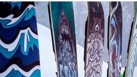 If you've never tried powsurfing, this is the season to begin.  Our friend Jeremy Jensen at Grassroots @powsurf handcrafts some of the raddest boards ever built. Bounce over to their website and pick one up. Your winters will never be the same.  #powsurf #liveactivated www.powsurf.com