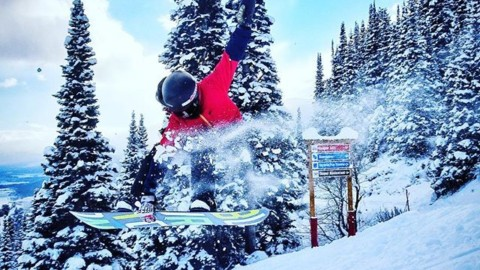 Opening day at @jacksonhole will make ya JUMP JUMP. @jhscfreerideprogram grom crew was killing it on the cat tracks today. #fs360crail #neverstopprogressing #liveactivated #snowboarding #jhlife www.a-7.co