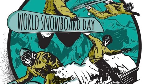 Snowboarders Unite!  Celebrate #snowboarding tomorrow on #WorldSnowboardDay this Sunday, Jan. 22!  Grab your crew and go shred!  Post photos of your crew riding together with the hashtag #MobTheMtn and the best photo will win 10 faceshields from @AVALON7 Art by Mark Kowalchuk @claymanlimited @worldsnowboardday Please Re-post this photo and spread the word!!