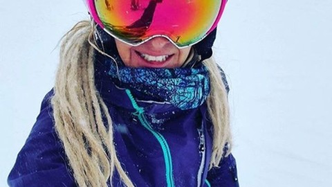 Super badass enduro athlete @merejune pushes her limits every day. Stoked to see her rocking our Blue Spirit Mesh FaceShield at the top of some other random peak in the Tetons. Give her a follow she rules!  #AVALON7 #liveactivated #skiing #shieldsup #activateyourpotential www.avalon7.co