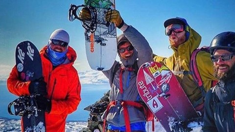 The stoke is high with this crew! @tetonsplitboarder and friends celebrate completing the Lyngen Traverse from south to north this week. The shred continues!  #WeAreAllAdventurers #AVALON7 #liveactivated #splitboarding www.a-7.co