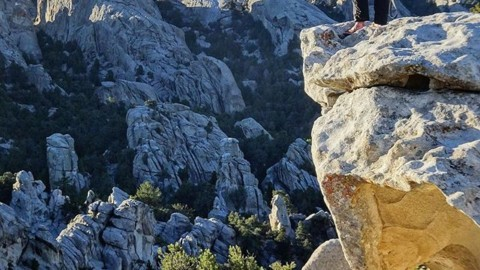 It's out there. @in_hinesight strikes a pose at the City of Rocks. #seekthestoke www.avalon7.com