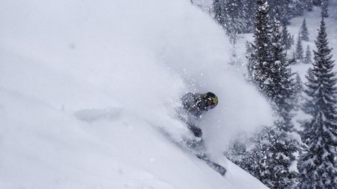 Who needs a little bit of this right now?  @chasejosey gets barreled at @jacksonhole.  #winteriscoming #seekthestoke #snowboarding  www.avalon7.com