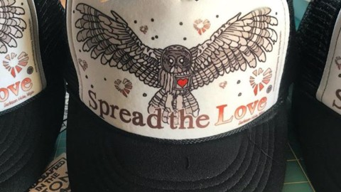 So stoked to have teamed up with @spreadthelovecommission helping homeless folks!  These beautiful artist series trucker hats feature art by @kyehalpin, all profits go to www.spreadlovebygiving.org. #futurepositive #inspireeachother