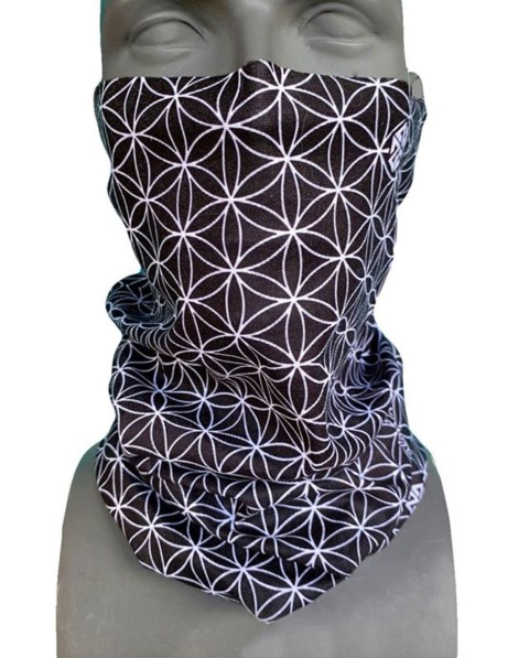 Our super popular Flower of Life FaceShield will keep your face warm and elevate your style this winter.  Now available in blue and black!  New designs are dropping daily at www.avalon7.com,  bounce over and check em out!  #SeekTheStoke #sacredgeometry #snowboarding #skiing #facemask
