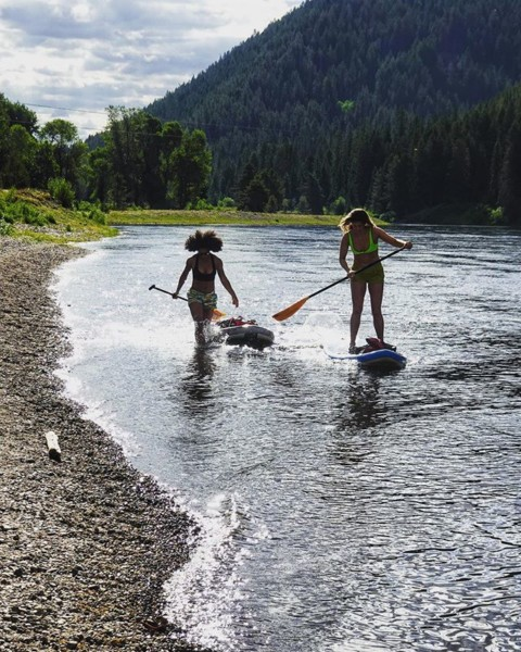Summer fun in @jacksonhole!  #riversweepers  #supdog #liveactivated