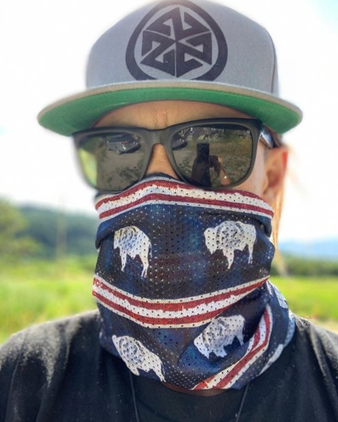 Protect ya neck!  The sun and wind can take a toll on your skin on these long summer days. Whether you are on the river or hiking in the mountains, our Mesh Tube Facemasks have got you covered with SPF 25, evaporative cooling and super breathability that won't fog your sunglasses.  New styles like this Wyoming Flag design just dropped at www.avalon7.com! #AVALON7 #LiveActivated #flyfishing #hiking #mountainbiking #wyoming #facemask