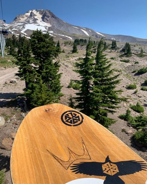 Summer shredding.  Like going to the beach but with sweet jumps.  #alwaysGO #LiveActivated #snowboarding