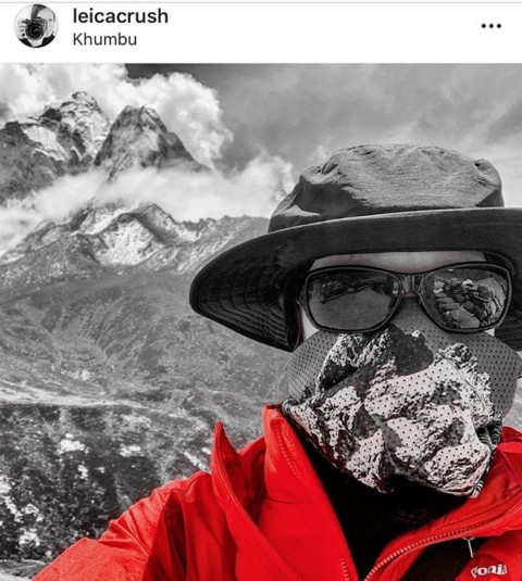 Adventure photographer @leicacrush lists our breathable Mesh Facemasks as a must have item when climbing and trekking in Nepal. Thanks Cira! #A7CO #AVALON7 #LiveActivated #trekking www.avalon7.com