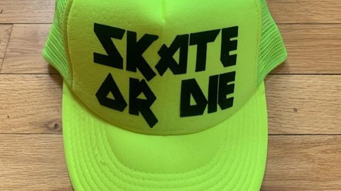 Anyone else remember the iconic video games Skate or Die or 720?  We made these hats as prizes for the #wildwestskateboardcontestseries going on today at noon at the Jackson skatepark. Come join us! #skateordie #liveactivated #skateboarding #truckerhat