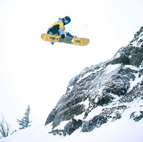 A7 team rider @camfitzpatrick likes to jump stuff @jacksonhole Amazing photographer @jaredspieker likes to take pictures of it. Follow them both for awesome shred action! #AVALON7 #InspireEachOther #LiveActivated #snowboarding